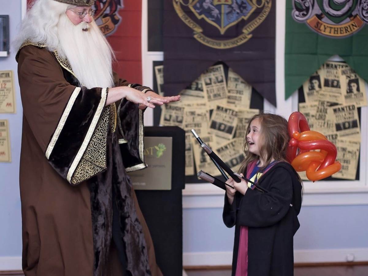 Harry Potter Dumbledore birthday party magic show